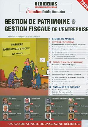 Gestion de patrimoine & gestion fiscale de l'entreprise 2009