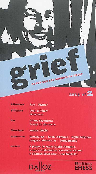 Grief, 2015 N°2