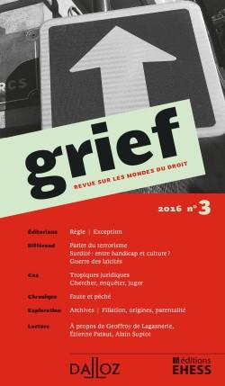 Grief, 2016 N°3