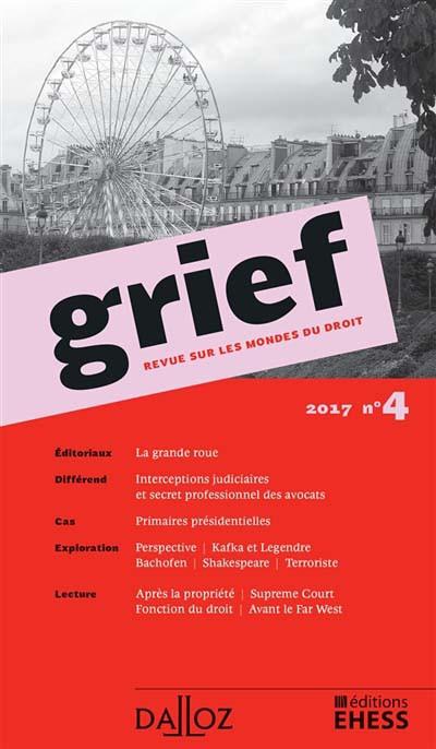 Grief, 2017 N°4