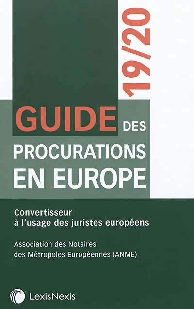 Guide des procurations en Europe 2019-2020