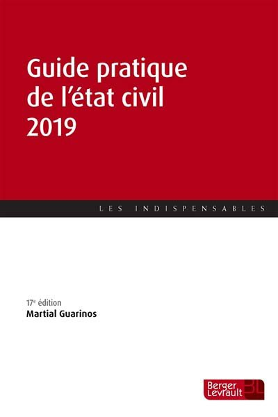 Guide pratique de l'état civil 2019