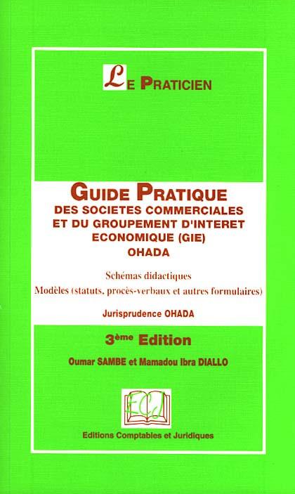 Guide Pratique Des Societes Commerciales Et Du Groupement D Interet