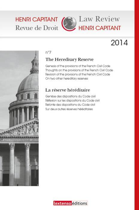 Henri Capitant - Revue de droit N°7-2014