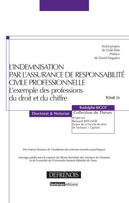 L'indemnisation par l'assurance de responsabilité civile professionnelle