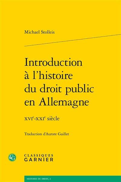 Introduction à l'histoire du droit public en Allemagne