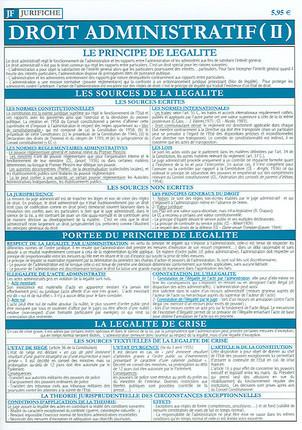 Jurifiche droit administratif (II), octobre 2005 (dépliant plastifié)