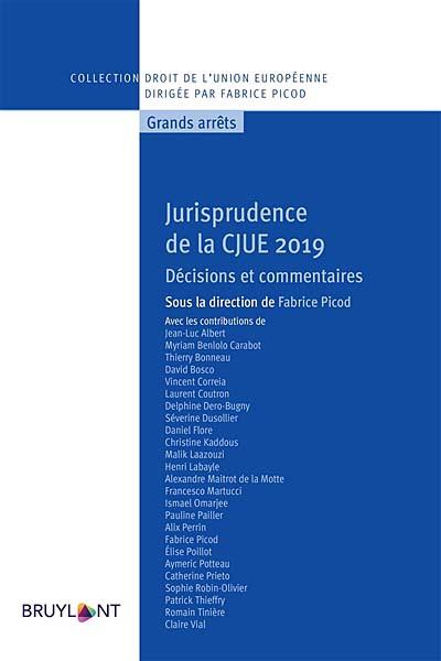 Jurisprudence de la CJUE 2019