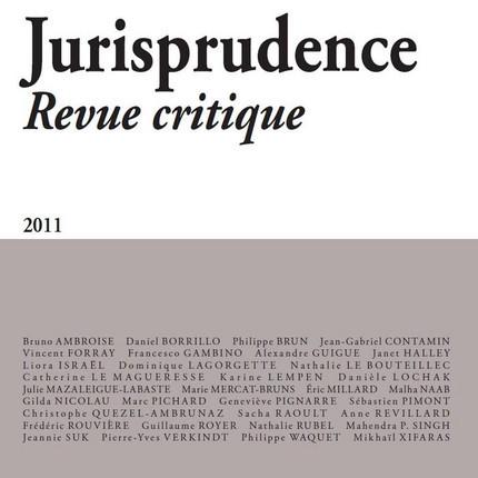 Jurisprudence - Revue critique 2011