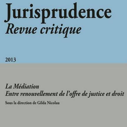 Jurisprudence - Revue critique 2013