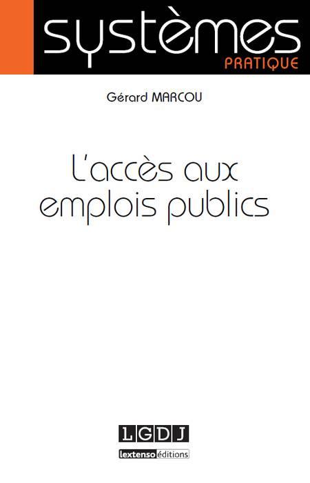 L'accès aux emplois publics