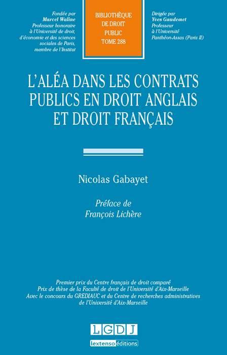 L'aléa dans les contrats publics en droit anglais et droit français