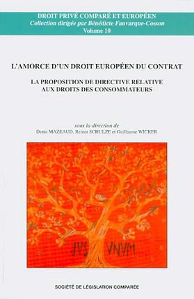 L'amorce d'un droit européen du contrat