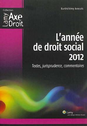 L'année de droit social 2012
