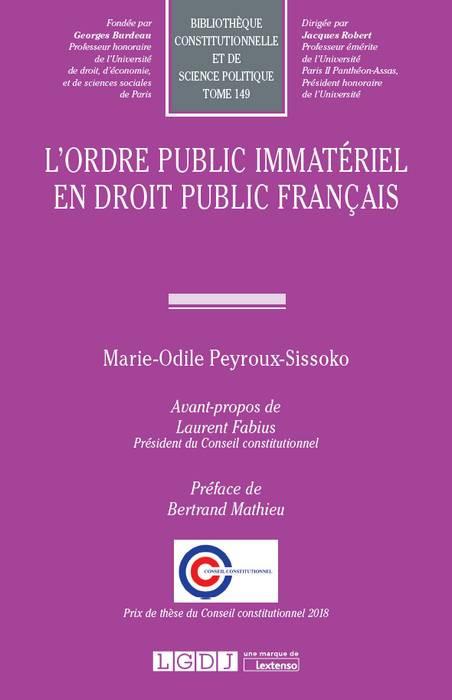 lordre public immateriel dissertation