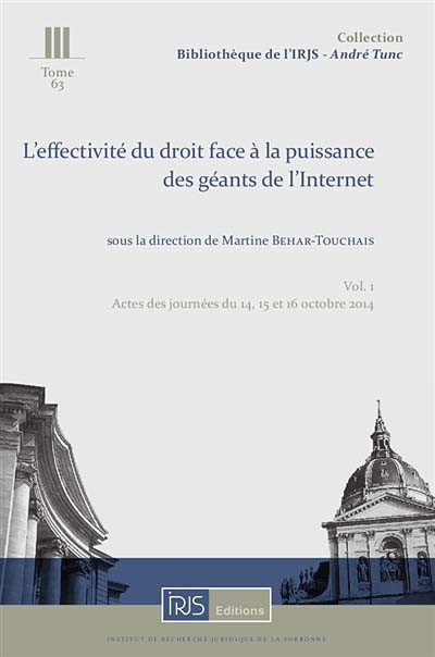 L'effectivité du droit face à la puissance des géants de l'Internet