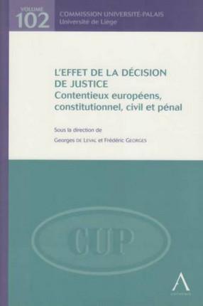 L'effet de la décision de justice