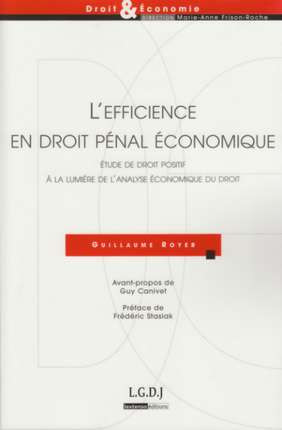 L'efficience en droit pénal économique