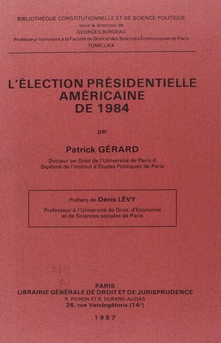 L'élection présidentielle américaine de 1984