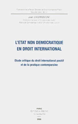 L'état non démocratique en droit international