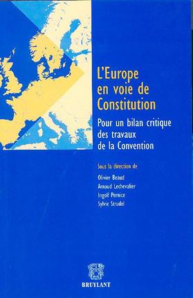 L'Europe en voie de Constitution
