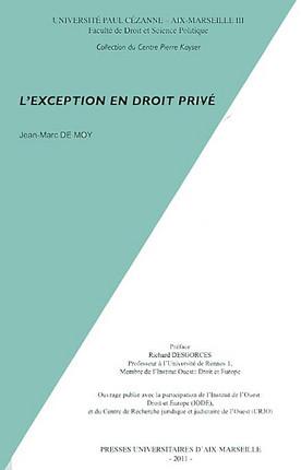 L'exception en droit privé