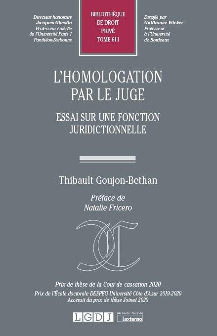 L'homologation par le juge