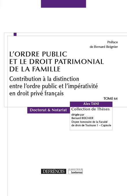 L'ordre public et le droit patrimonial de la famille