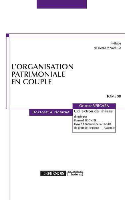 L'organisation patrimoniale en couple