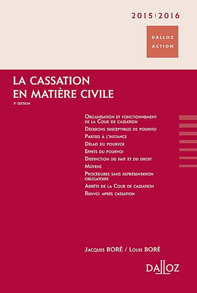 La cassation en matière civile 2015-2016