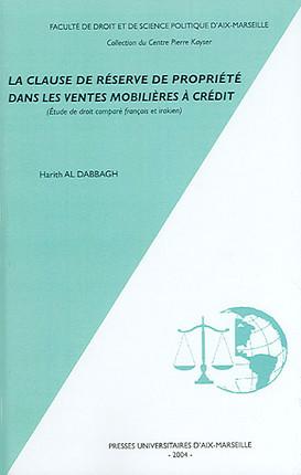 La clause de réserve de propriété dans les ventes mobilières à crédit