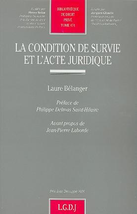 La condition de survie et l'acte juridique