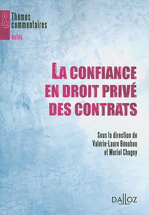 La confiance en droit privé des contrats