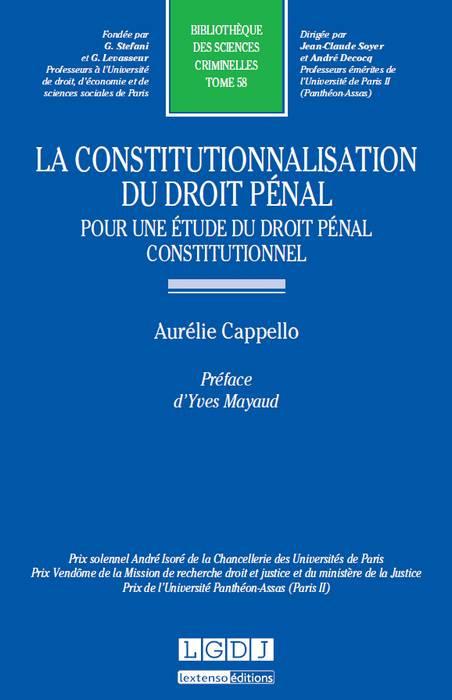 La constitutionnalisation du droit pénal : pour une étude du droit pénal constitutionnel