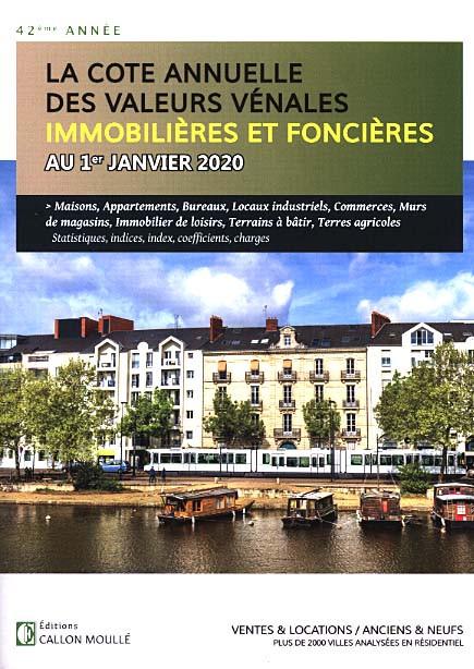 La cote annuelle des valeurs vénales immobilières et foncières au 1er janvier 2020