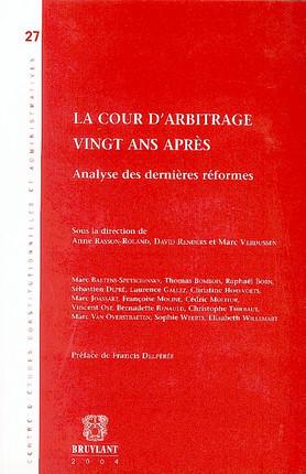La Cour d'arbitrage, vingt ans après