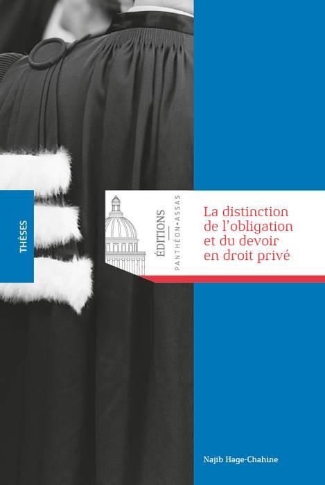 La distinction de l'obligation et du devoir en droit privé