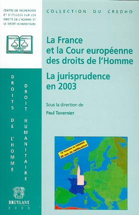 La France et la Cour européenne des droits de l'homme