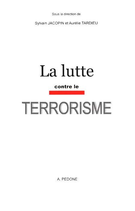 La lutte contre le terrorisme
