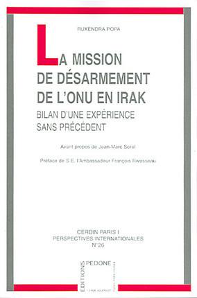 La mission de désarmement de l'ONU en Irak