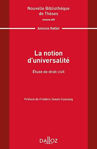 La notion d'universalité