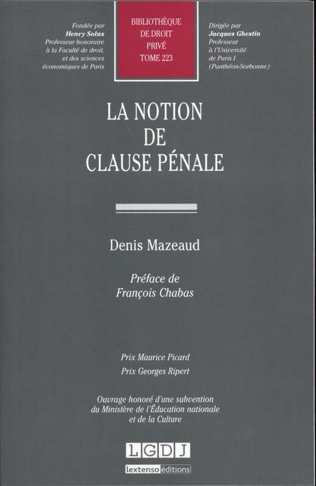 La notion de clause pénale