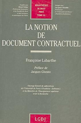 La notion de document contractuel