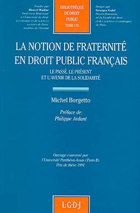 La notion de fraternité en droit public français