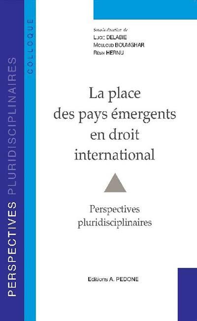 La place des pays émergents en droit international