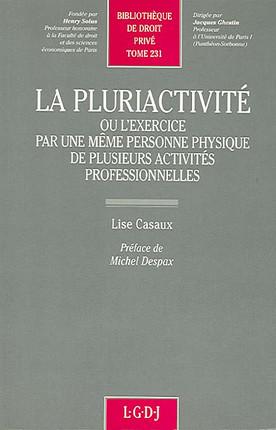 La pluriactivité ou l'exercice par une même personne physique de plusieurs activités professionnelles