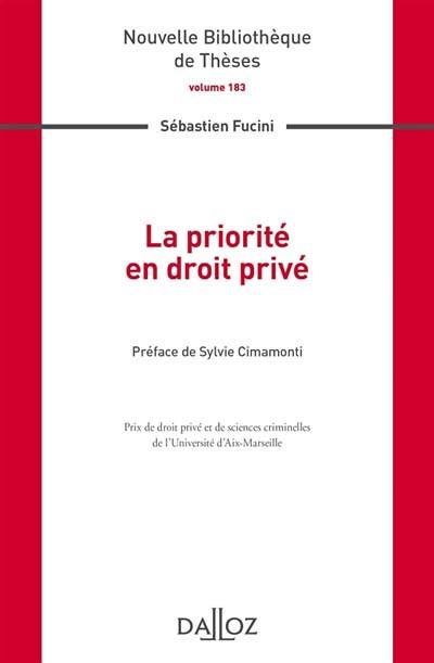 La priorité en droit privé