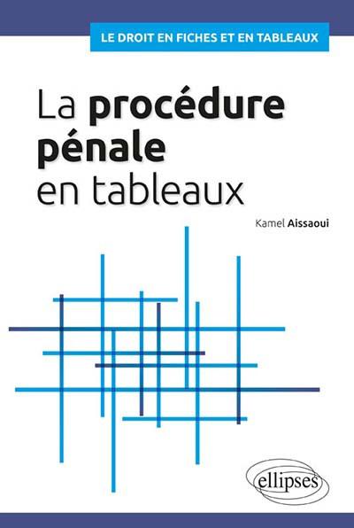 La procédure pénale en tableaux