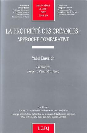 La propriété des créances : approche comparative