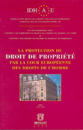 La protection du droit de propriété par la Cour européenne des droits de l'homme